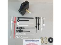 Saat Makinesi Askılı Akar Şaftı 28 mm Plastik Akrep Yelkovan