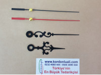 Akrep 6,5 Yelkovan 9,2 cm Metal Desenli Siyah 100 Ad